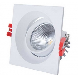Downlight LED pivotant 8 Watt Dimmable 3000 Kelvin