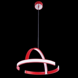 Suspension DESIGN LED 36,5 Watt 230V rouge